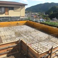 住宅基礎工事の写真